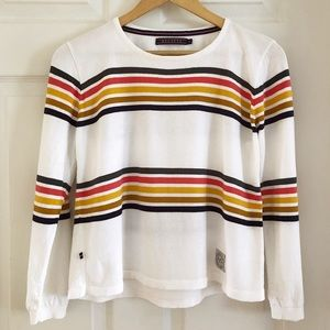 Crew Neck Sweater w/ Multicoloured Stripes